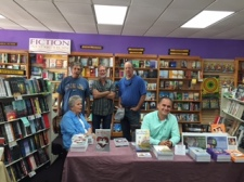 Terry Barr at Fiction Addiction with Theresa Jenner Garrido and Cesar A Perez