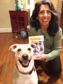 My wife Nilly Barr & our dog Max--so excited about my book!