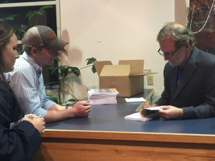 Book signing at PC