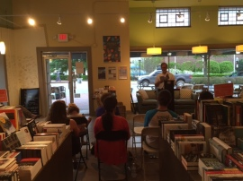Reading at Hub City Books