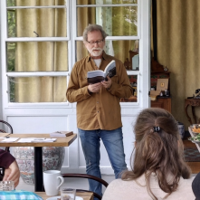 Debuting my new book in Bath County, V.A. with my first live reading and signing.